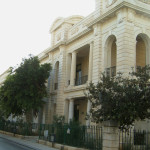 Restoration works at external facade at Sliema Government, Sliema.