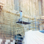 Cleaning and pointing of facade at Scamps Palace, Cottonera (Casino' di Venezia).