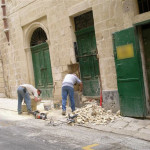Restoration works at Palazzo La Salle, Valletta.